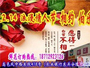 """2015年情人节,""""爱就要大声说出来""""高邑伯乐鲜花巧克力火爆热卖中"""