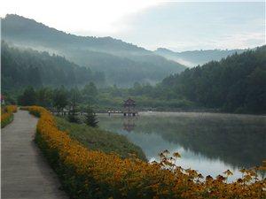 晨雾飘渺应山庄