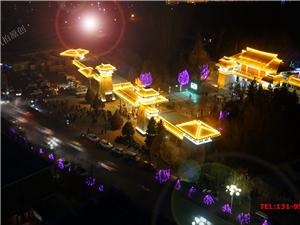 尚境航拍酒泉夜景