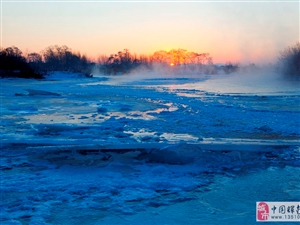 风景总是家乡美~冰河日出