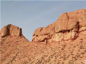 酒泉红山攀岩