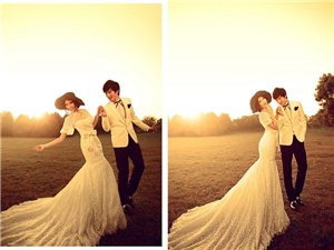 漂亮新娘婚纱摄影