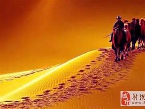 壮观大漠驼铃