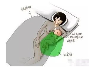 新手妈妈夜间喂奶睡着