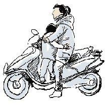 千万别让孩子站电动车踏板上!】