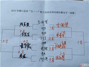 2015职工运动会羽毛球14日比赛,耿捷、李澜�S分别拿下男女单打冠军!