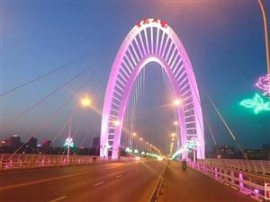 云飞大桥迷人的灯光