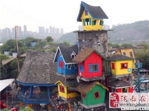 """重庆街头现梦幻""""树屋"""""""