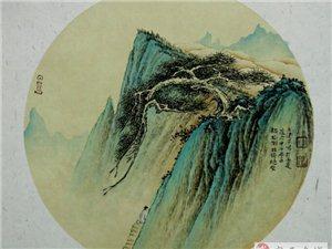 【兰州晚报】90后的精彩――王建平精美山水团扇作品欣赏