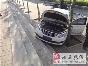 停车忘拉手刹居然把自己撞死了!