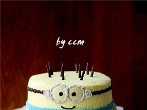 小黄人生日蛋糕