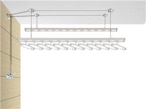 HD-8188银色推拉手摇杆长2.4米
