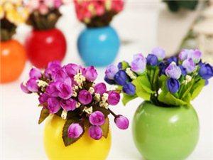 纯色简约现代圆球豆芽陶瓷家居小花瓶花器花插结婚家装饰品摆件
