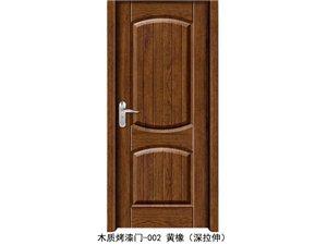 木质烤漆门-002黄橡(深拉伸)