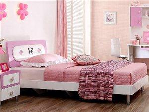 青少年儿童卧室三件套床+床头柜*1+二门衣柜