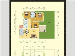 E1户型(三室两厅两卫)