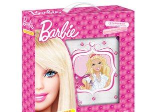芭比娃娃四人玩芭比游戏垫背面跳棋
