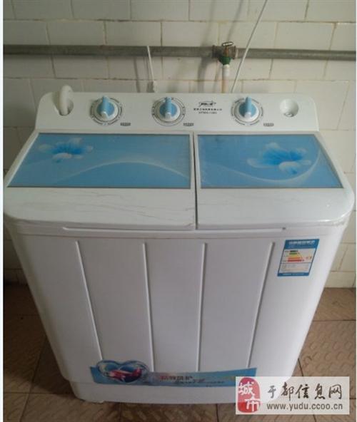 于都九成新半自動洗衣機轉讓8.8公斤容量