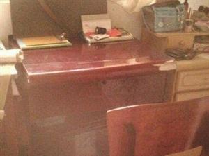 学习桌一套带凳子 纯木