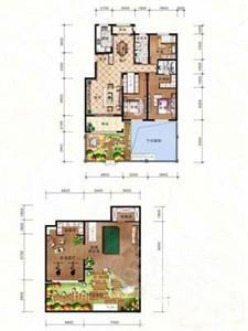 绿地·剑桥A2-一层中户3室2厅2卫1厨-157.79㎡