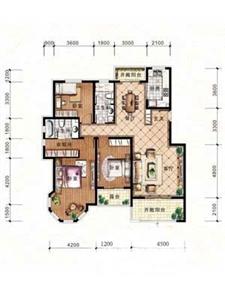 绿地·剑桥A3-二层边户3室2厅2卫1厨-152.40㎡
