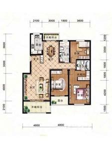 绿地·剑桥A4-二层中户3室2厅2卫1厨-143.76㎡