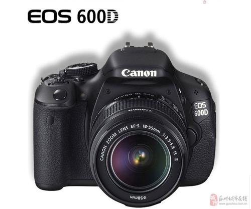 佳能(canon)EOS600D黑色单反相机