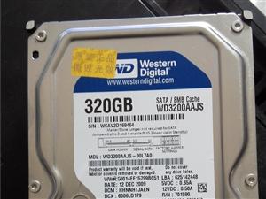320G西部数据硬盘出售,无坏道