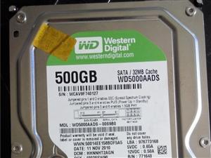 西部数据500G硬盘