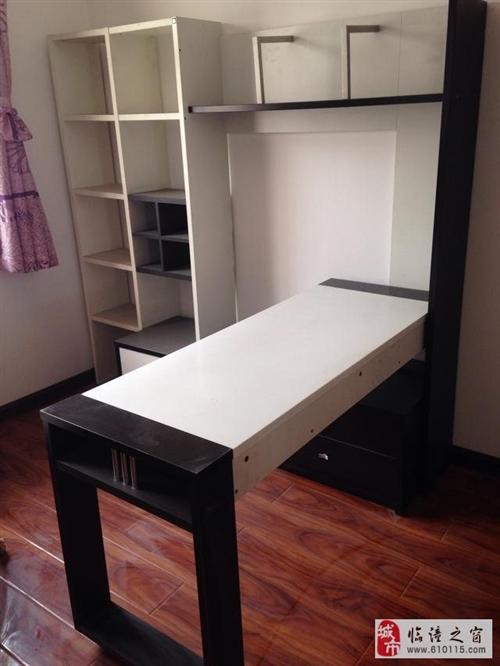 出售8成新书架.电脑桌一体式柜子