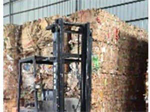 自动废纸打包机抱夹叉车