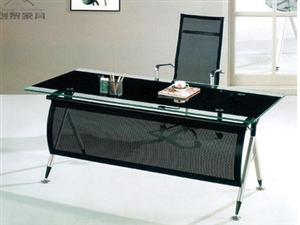 环保玻璃大班台(电脑桌)