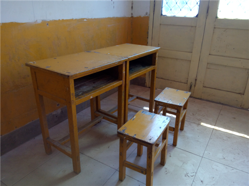 二手纯实木课桌凳