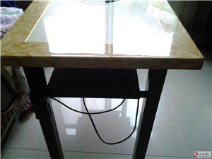 出售九成新大理石�磁火�桌