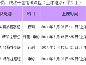 2014年河南省公務員筆試培訓課程開課啦【平頂山華