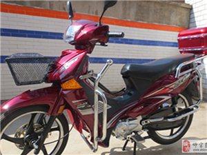 出售9-8成新枣红色110cc湾梁摩托车一辆
