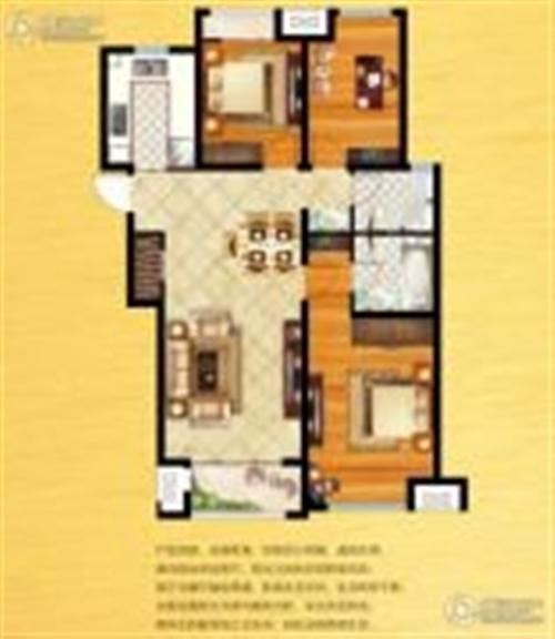 C3户型三室两厅两卫