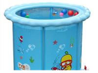 之雨婴儿游泳池夹网支架游泳池充气游泳池儿童浴桶超大