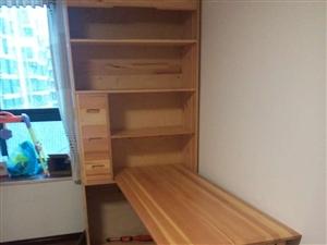 长阳津洋口赵女士有一套实木书柜连体床电脑桌转让
