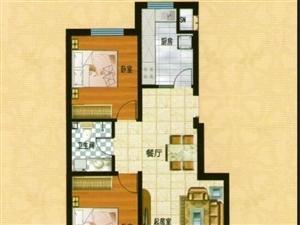 白沙小筑1户型 2室2厅1卫 面积105㎡
