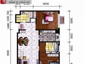 宏运国际商务港 2室2厅2卫 面积104.81㎡