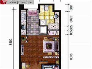 宏运国际商务港 1室1厅1卫 面积39.21㎡