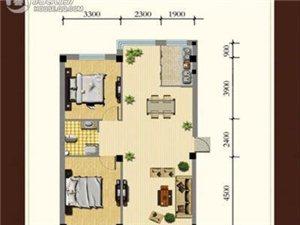 龙湾骏景户型图A (2)2室2厅1卫 88.00㎡