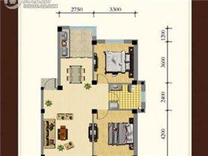 龙湾骏景户型图A2室2厅1卫 88.00㎡