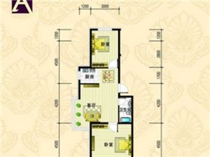 金城·丽都A户型 2室1厅1卫 面积102.78㎡