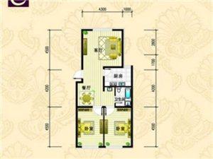 金城·丽都C户型 2室2厅1卫 面积98㎡