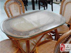 转让1.5米床带床垫700元、藤餐桌1000元