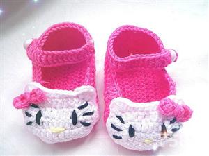 0-1岁宝宝手工毛线钩鞋