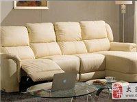 低價轉讓知名品牌芝華仕頭等艙沙發歐式客廳淺色真皮轉