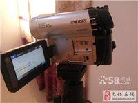 索尼磨砂银色双介质存储数码摄像机